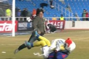 Incheon United's Mascot Attacked by a Fan