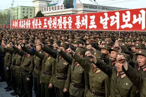 Mass Rally in Pyongyang Against South Korean President Lee Myung-bak