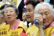 Former comfort women weep