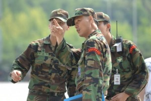 South Korean soldiers on duty.