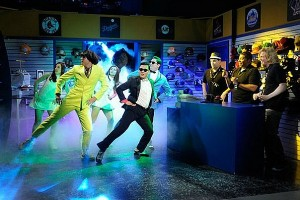 Psy performing at Saturday Night Live