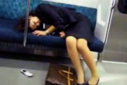 drunk-japanese-girl-on-subway-train
