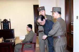 Footage broadcast on North Korean television on December 9th showed Taek's arrest during a meeting of the Korean Worker's Party Politburo meeting the previous day.